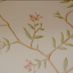 Painted Decorative Foliage Mural