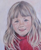 Children's Portrait of Nicole, acrylic on canvas