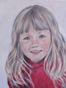 painted portrait of a child Warwickshire