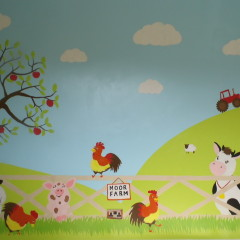 Child's Farm Mural Warwickshire Painter